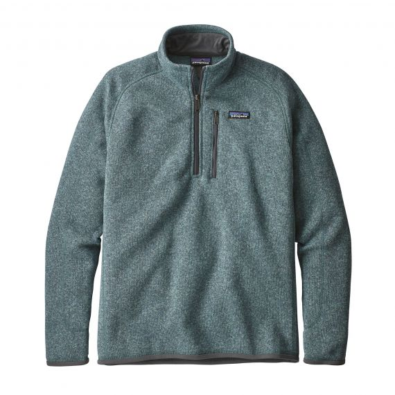 PATAGONIA FELPA 25522 BETTER SWEATER 1/4 SDAB SHADOW BLUE PETROLIO