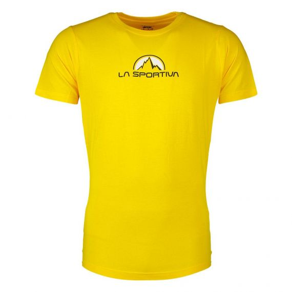 LASPORTIVA T-SHIRT FOOTSTEP GIALLO