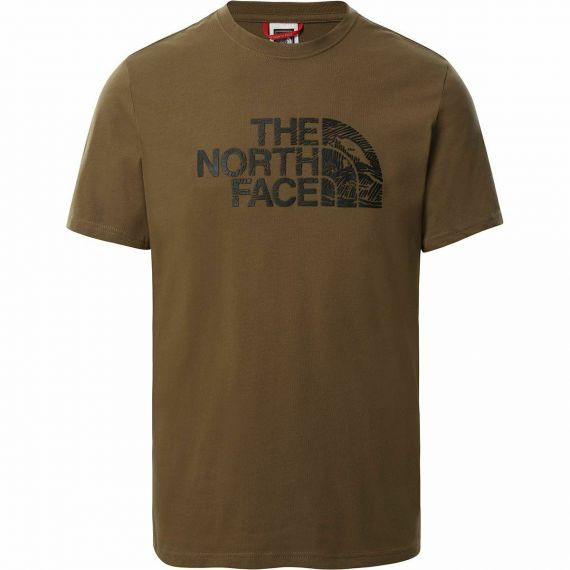 T-shirt Uomo THE NORTH FACE Wood Dome Tee Verde
