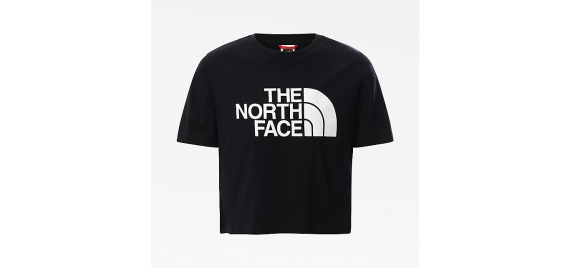 T-shirt  Easy Cropped Tee Bambina THE NORTH FACE Nero
