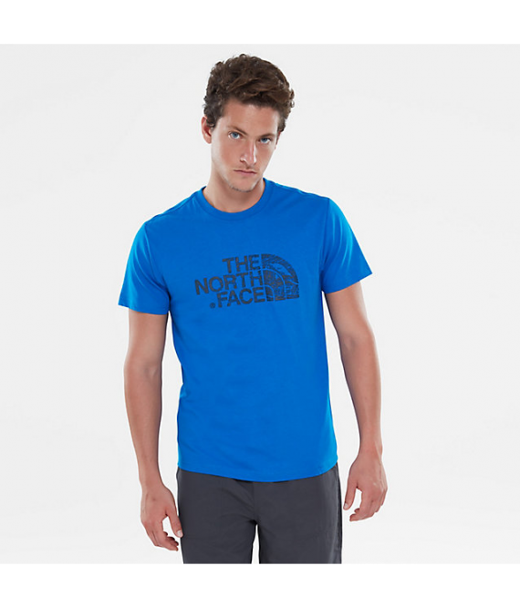 T-SHIRT THE NORTH FACE Wodcut Dome Blu