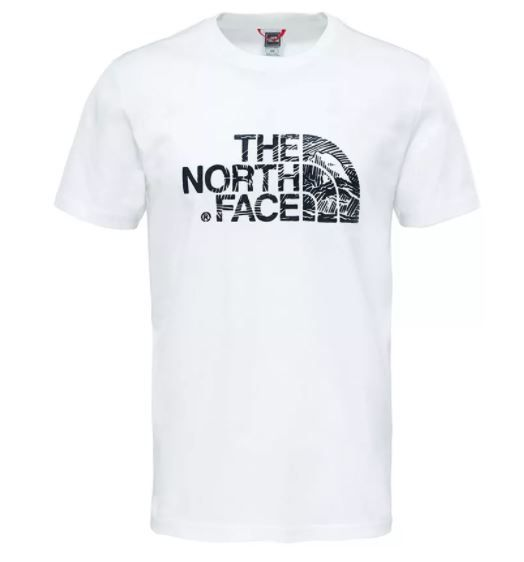 T-SHIRT THE NORTH FACE Wodcut Dome Bianco