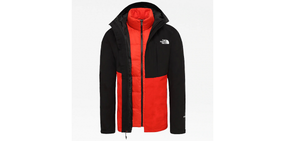 THE NORTH FACE MOUNTAIN TRICLIMATER JKT GORETEX ROSSO